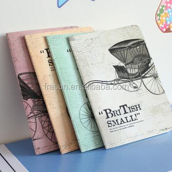 Phantasie Englisch Wörter Schreiben Weiße Papier Draht Notebook ...