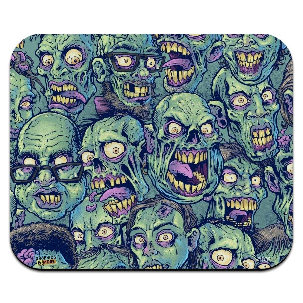 Zombie Pattern Dead Corpses Undead Horror Low Profile Thin Mouse Pad Mousepad