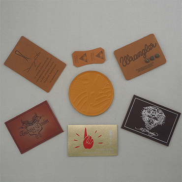 ) 저 (Low) 가격 custom genuine leather 블 와 엠보싱 logo