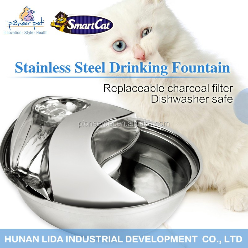 2016 new pet products best selling products stainless steel cat drinking fountain