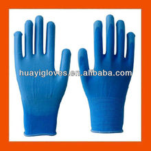 Blue PU Coated Safety Gloves
