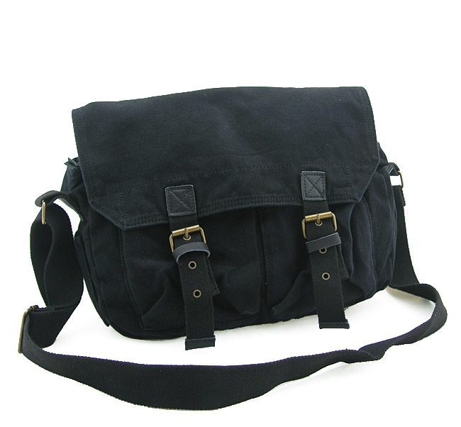 2361 Trendy Casual Style Men's Blank Canvas Shoulder Messenger ...