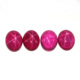 Cabochon Flat Back Synthetic Red Star Ruby Stone, Star Light Stone
