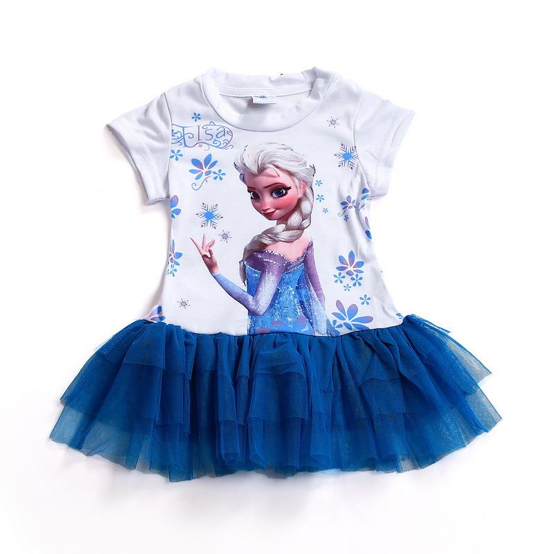 56fc6b4bfc7 Get Quotations · Elsa Baby Tutu Dress Pure Cotton Ball Gown Gauze Girls  Princess Tutu Dress Cartoon Children Dresses