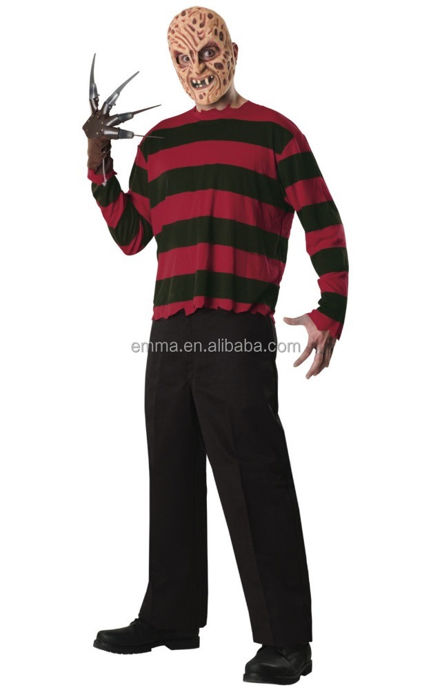 Freddy Krueger A Nightmare on Elm Street Horror Movie Men Costume BMG17304