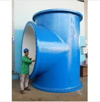High Quality Ductile Iron All Flange Tee 2200MM X 1600MM