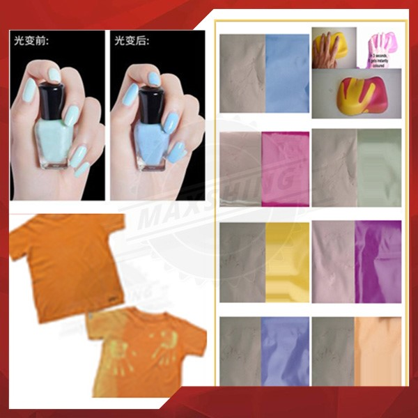 Factory Colorful photochromic pigment hot sale for T-shirt paint textile colorant pigment