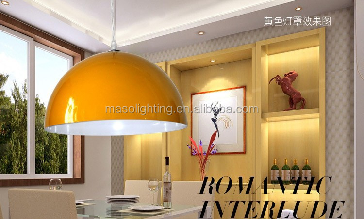 Nordic Modern Dome Shape Simple Fashion Pendant Lamp Cast