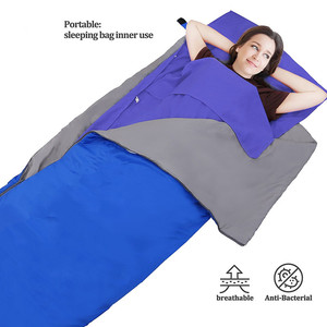 Woqi human sleeping bag with clean Sleeping Bag Liner for Isolation dirty