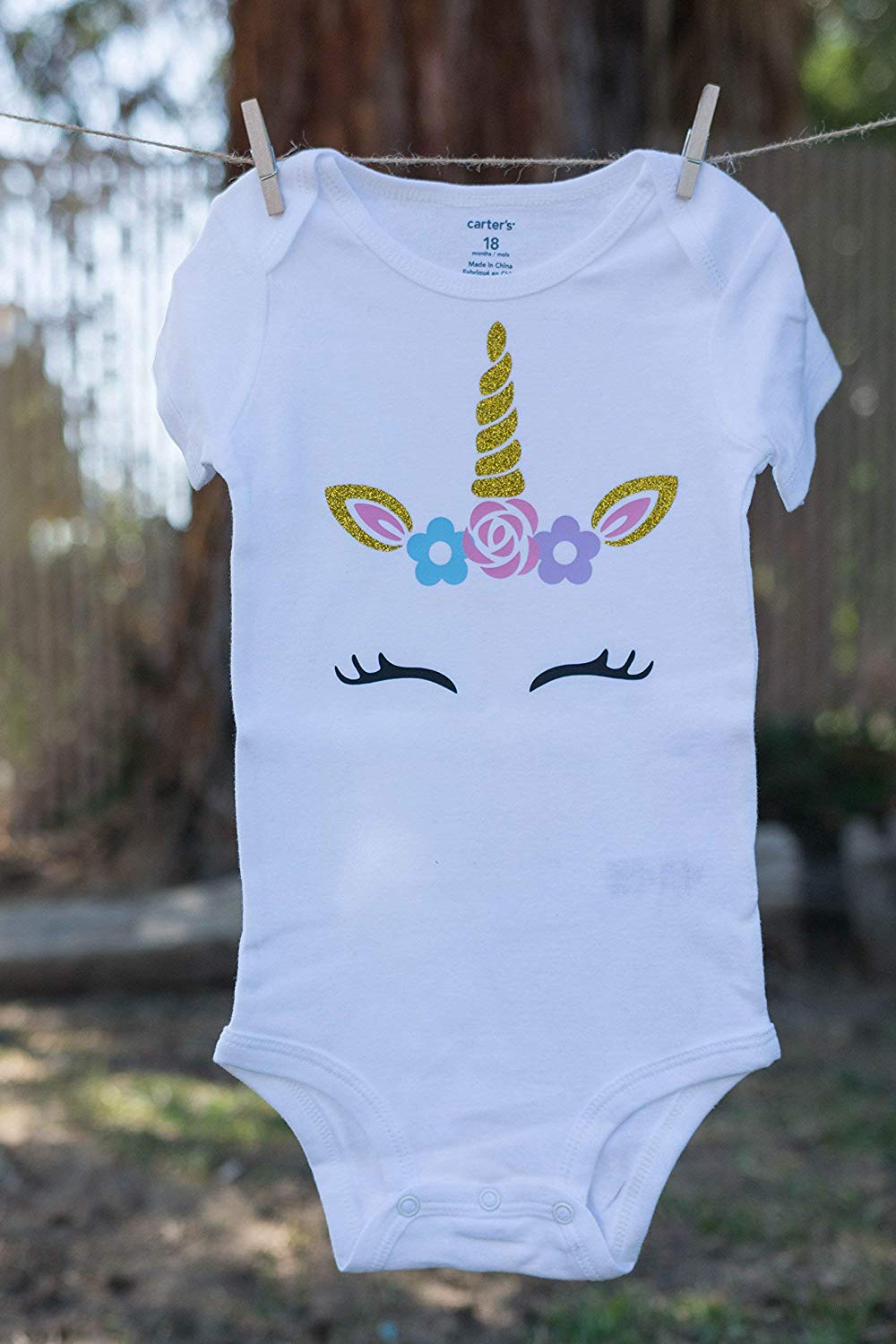 inktastic 1st Birthday with Unicorn Ghost and Bat Baby T-Shirt