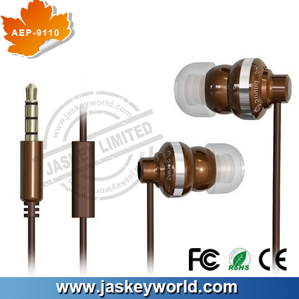 2014 Wooden earphone AEP-9048 promotion