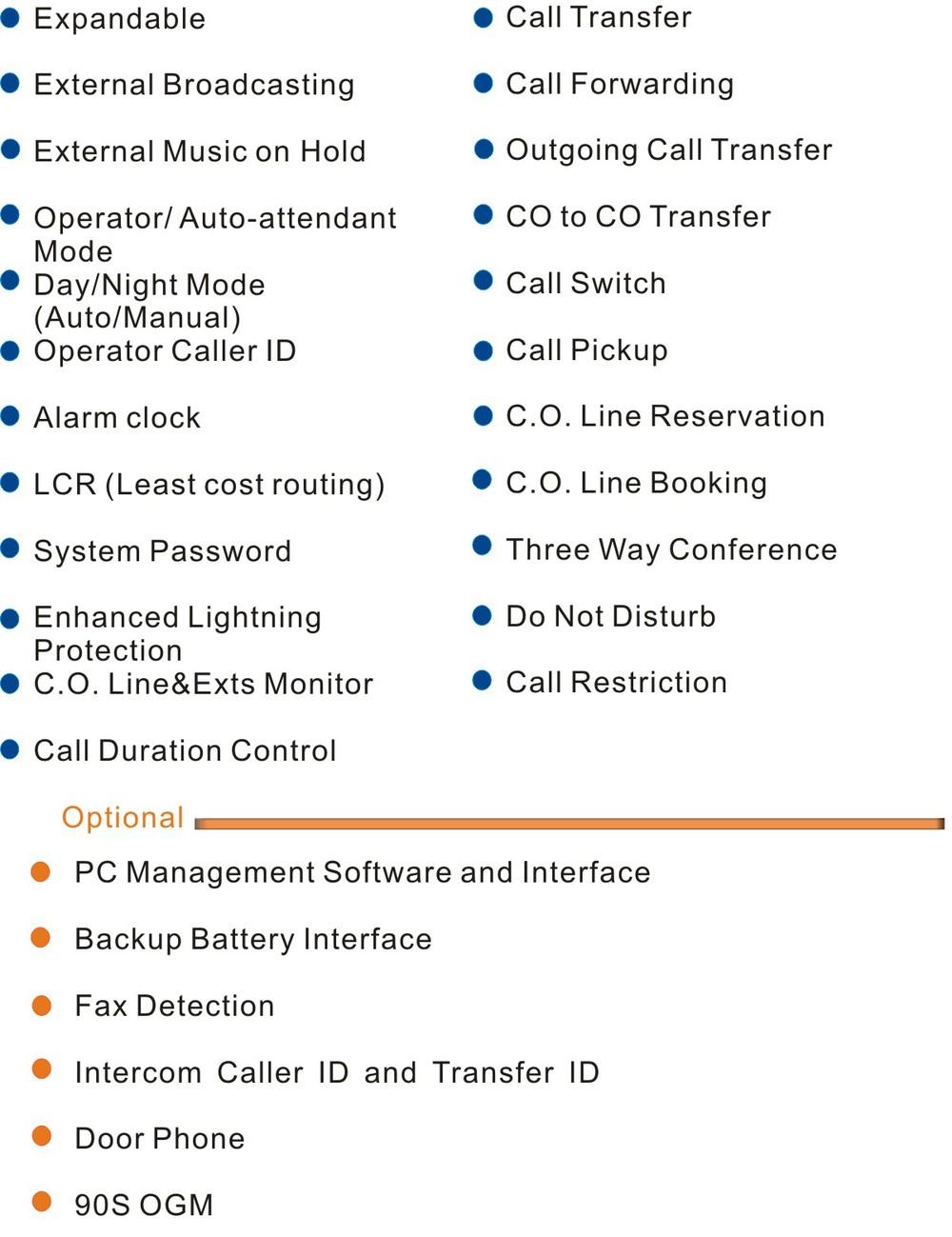 Excelltel /pabx/expandable Pbx/cp1696-416 4 Co Lines 16 Extensions ...
