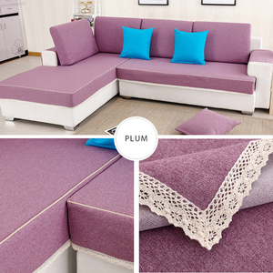 Wholesale OEM low MOQ customized hand embroidery silk lace sofa cover