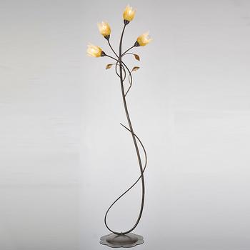 Indoor Gl Flower Fancy Floor Lamp