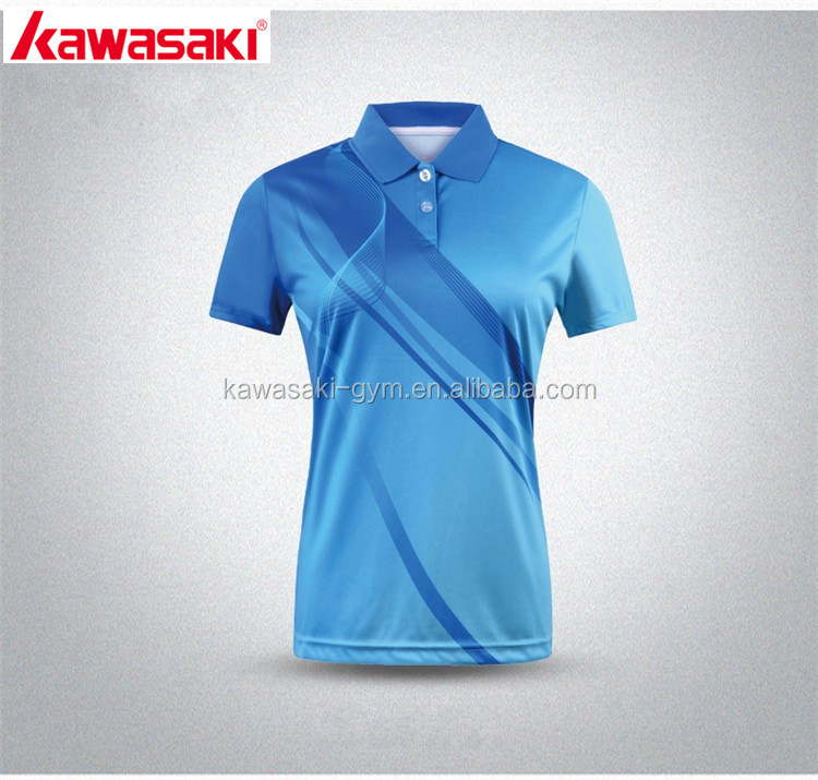 Kawasaki supply professional design sublimation personal logo tennis jersey wear