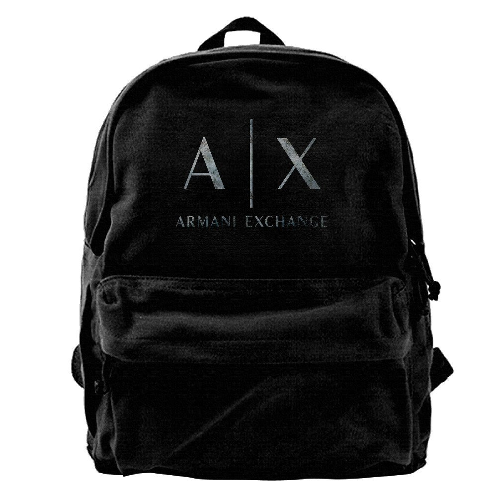Get Quotations Canvas Backpack Armani Exchange Casual Laptop College Bag Daypack For Travel Hiking Camping