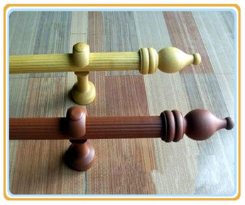 Wholesale Low Price 50mm Twisted Wood Curtain Rod Buy