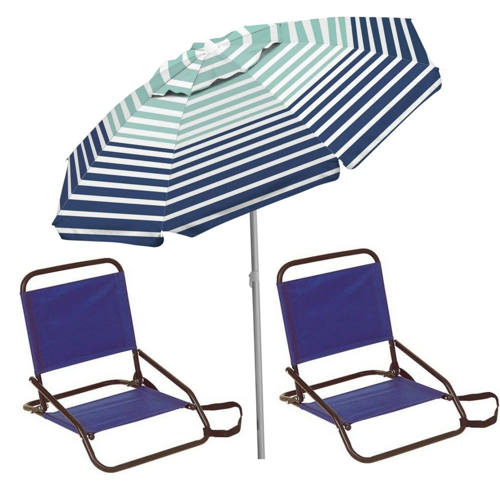Beach Decor Set Of Chairs With Umbrella Includes 2 Blue Beach Chairs Folding Lightweight And  sc 1 st  Alibaba & Buy Beach Decor Set Of Chairs With Umbrella Includes: 2 Blue Beach ...