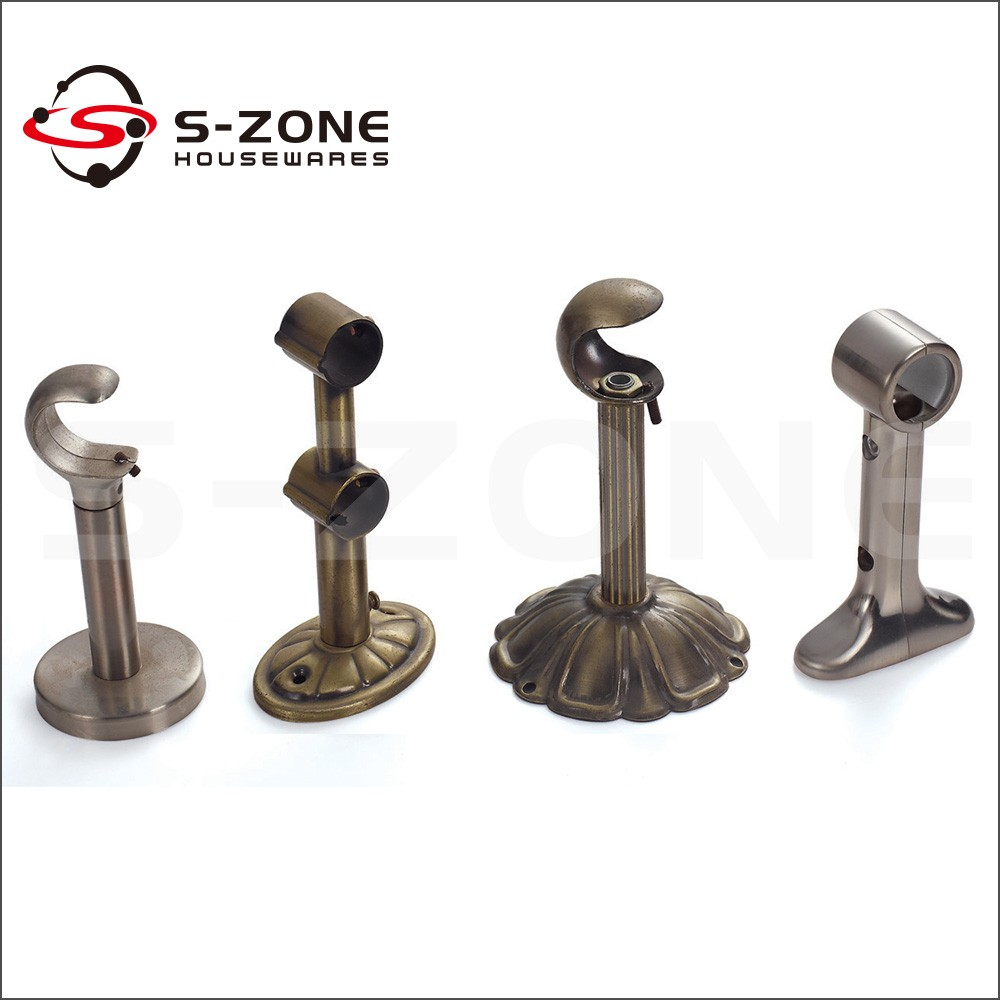Connecting decorative pipe wall mount iron rod curtain bracket ... for Fancy Curtain Brackets  300lyp