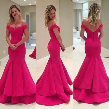 2016 Off Shoulder Evening Dress Summer Indian Women Party Wear Best For Farewell