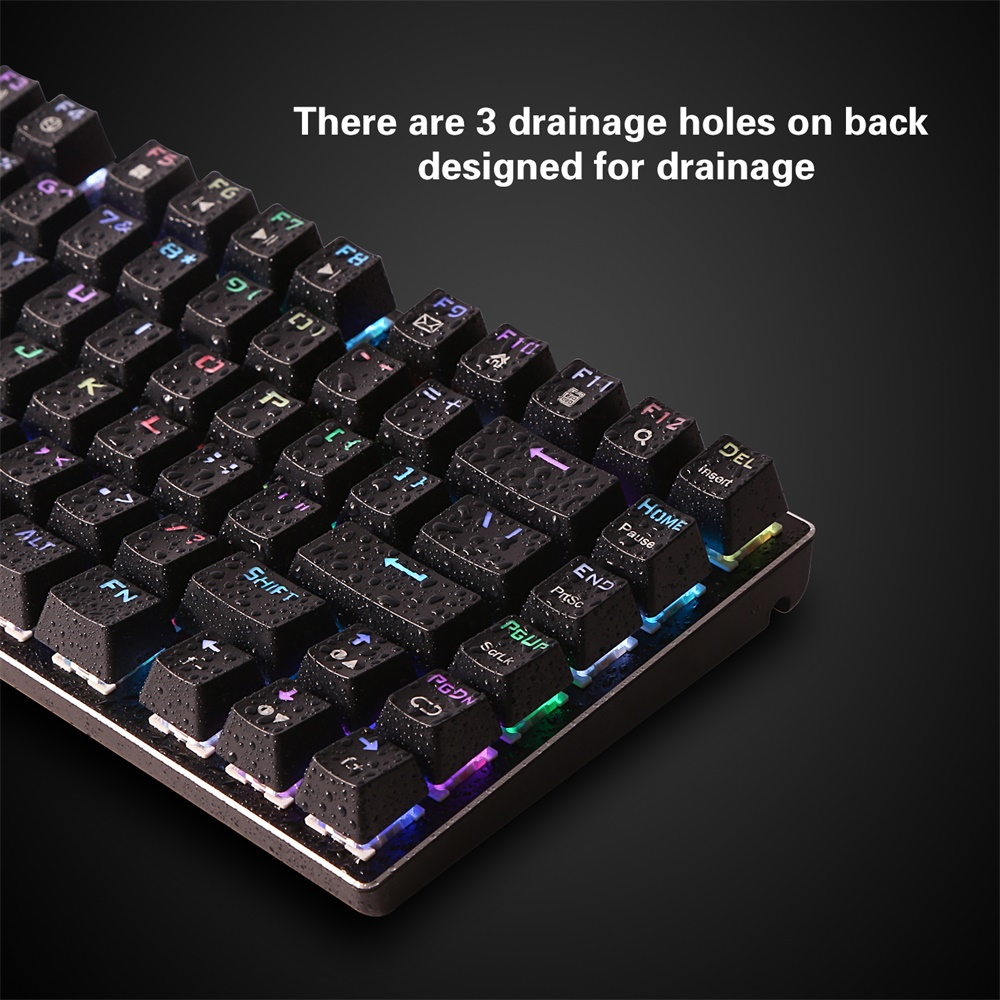 E-element Z-88 RGB Backlit Mechanical Keyboard 81 Keys Replaceable Blue Switches Gaming Keyboard