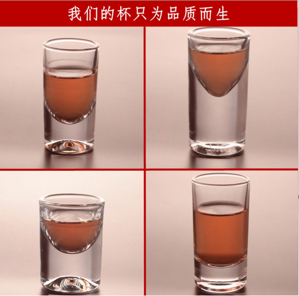 Mini bullet shaped sexy round sublimation shot glass