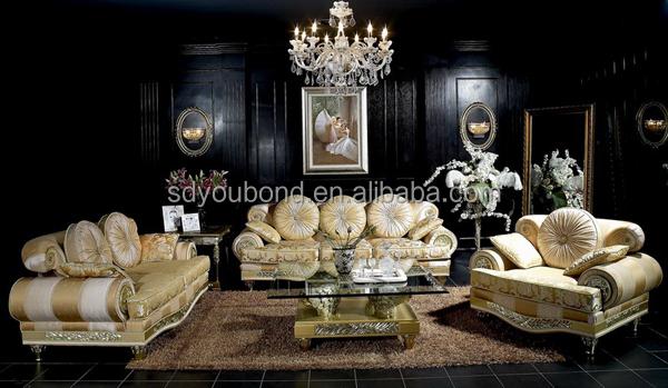 10020 2014 Luxury Gold Dubai Sofa Latest Sofa Design Living Room