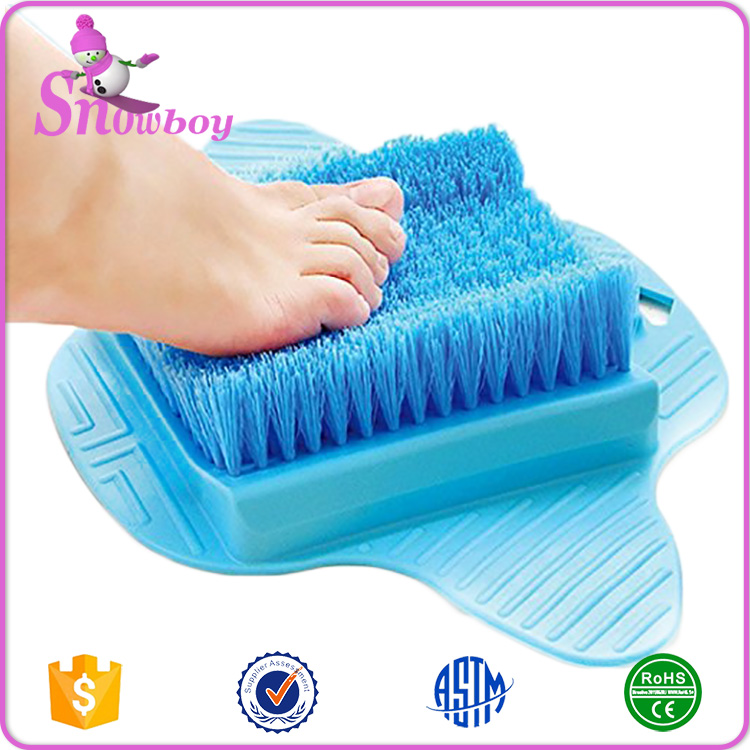 Plastic Soft Blue Shower Spa Bath Blossom Foot Scrub Brush ...