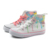 white canvas kids high cut shoes children lace up shoes