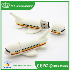 PVC airplane shape usb flash drive,plane shape USB pendrive,custmized plane shaped usb products