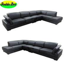 Modern Style home furniture corner sofa, Italy leather corner sofa set /New sofa set designs