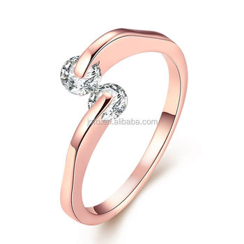 2018 New Arrival Korean Design Elegant Rose Gold Plated Diamond