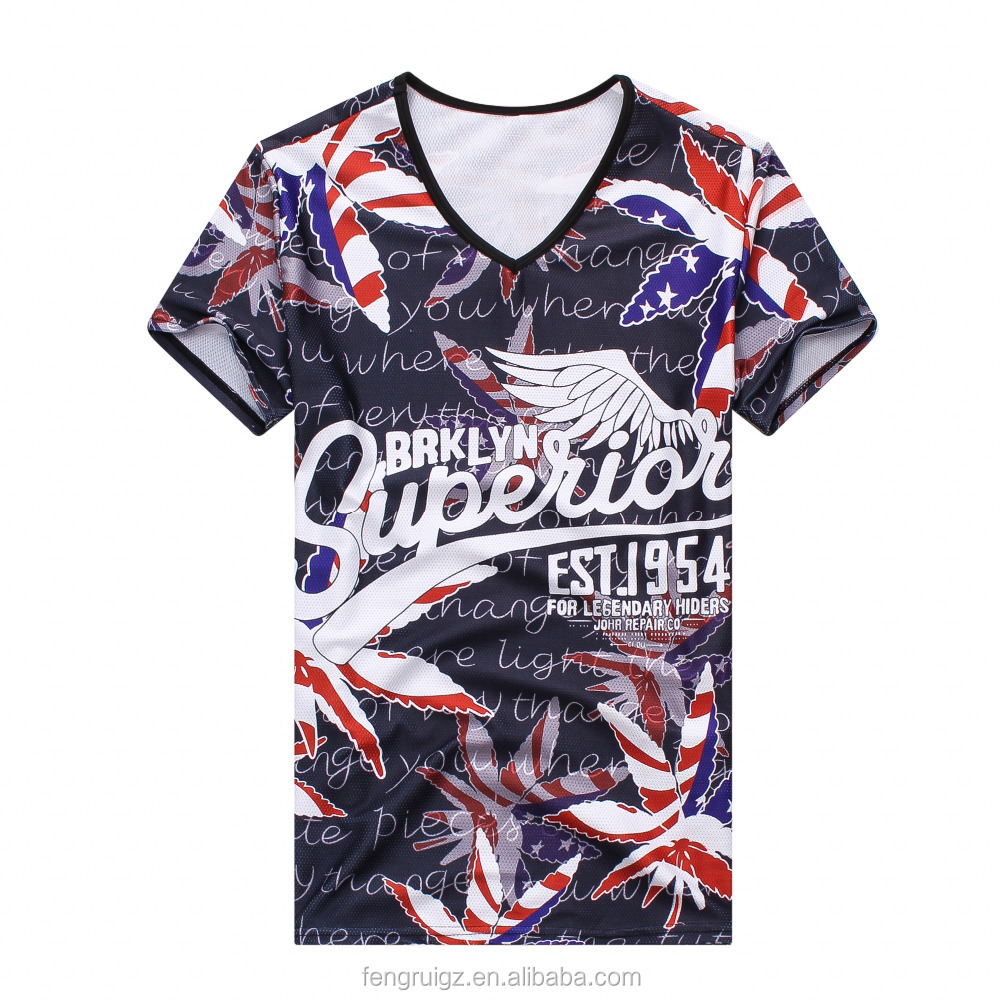 Super breathable mesh t shirt short sleeve T shirts men V neck tops customized print Tee for man