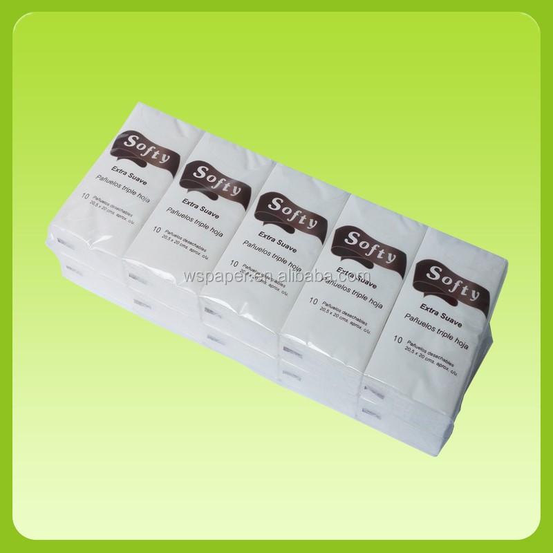 wholesale customized logo printed pocket tissue