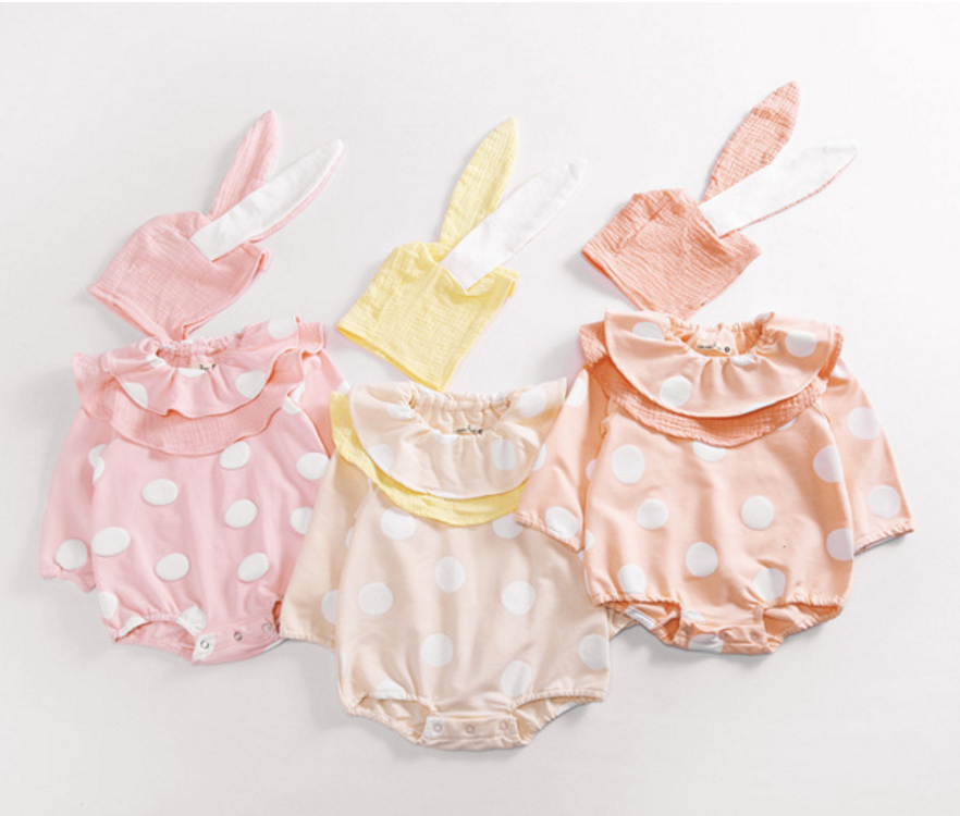 Wholesale 2017 baby terry cloth romper and hat two piece per set