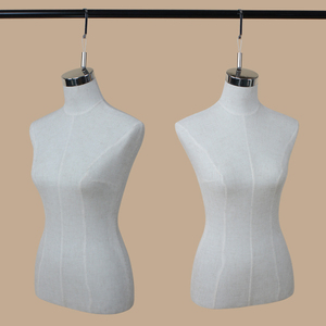 XINJI Female Half Torso Mannequins For Fashion Dresses Women Upper Body Linen Cotton Adult Window Display Model