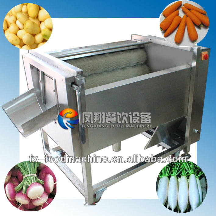 MSTP-80 Brush Type Electric Turnip Radish Potato Carrot Waher Peeler Machine (stainless steel, food-grade parts)...Nice!