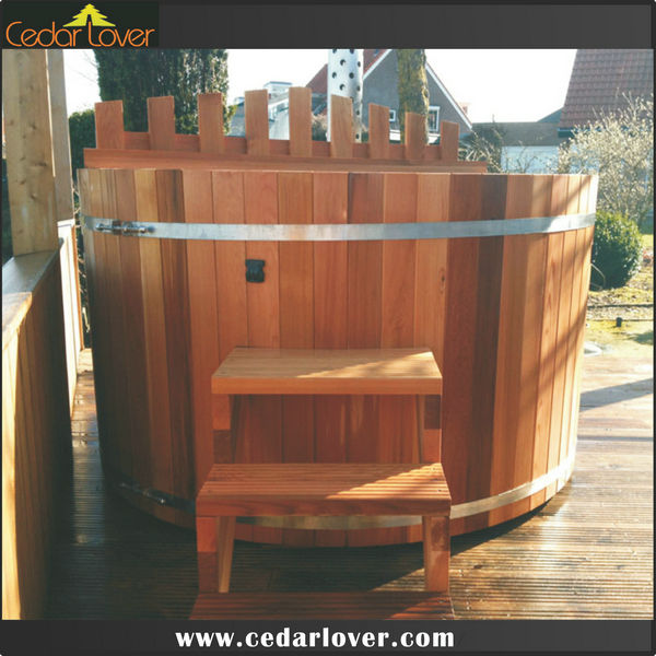 De madera r stica le a jacuzzi ba eras de spa for Jacuzzi interior barato
