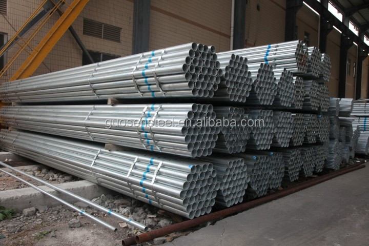 Scaffold pipe building material hot dip galvanized steel pipe