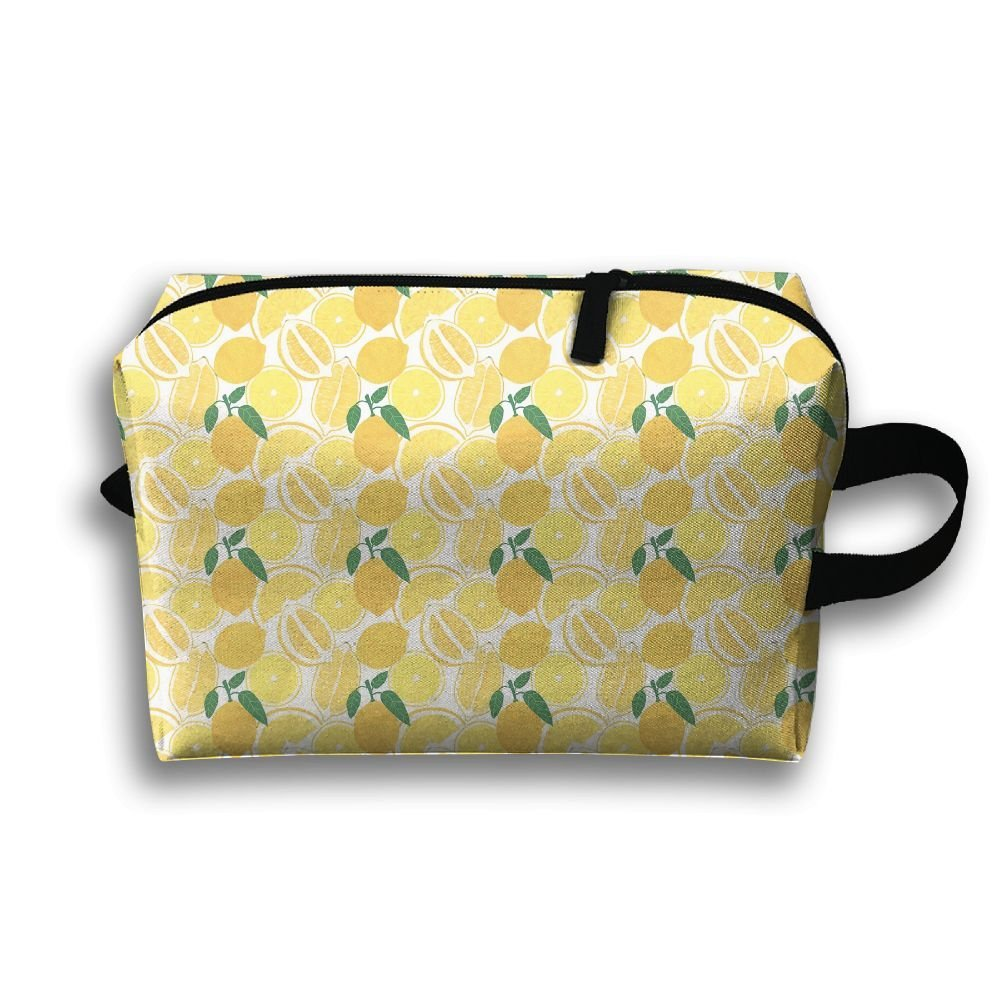 TDynasty Fruit Lemon Printed Travel Toiletry Bag Multifunction Portable Bag Cosmetic Bag For Home Office Camping Sport Gym Outdoor