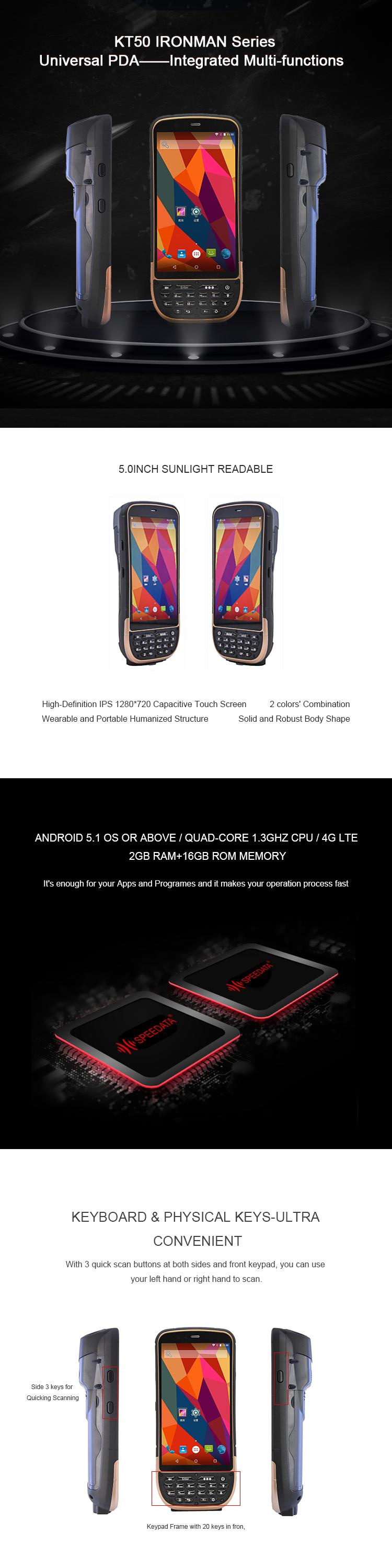 โทรศัพท์มือถือคอมพิวเตอร์ทนทานแบบใช้มือถือ Android Pda