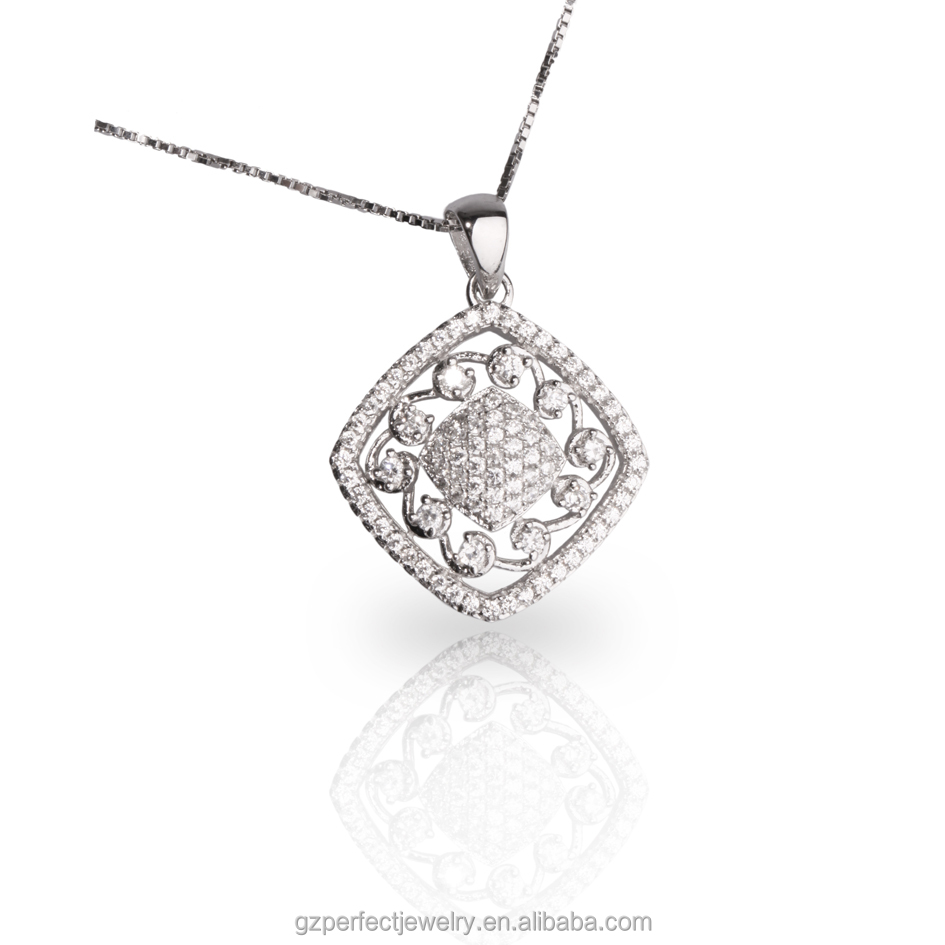 925 sterling silver jewelry wholesale pendant with cz for men and women