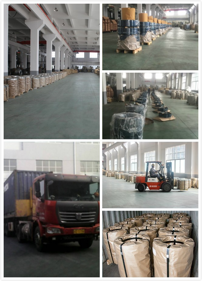 Black Steel Strapping For Steel And Glass Packaging