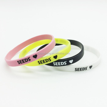 Thin Silicone Wristbands Rubber Bracelets Party Favors