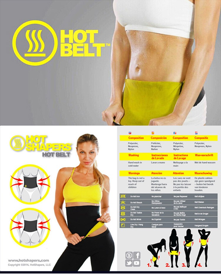 Burning Fat Slimming Belt Waist Girdle Women Hot Shaper Belt Trainer Tummy