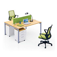 low price 2 person office partition workstation