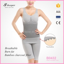 S-SHAPER Tourmaline Body Shaper Suit,Bamboo Underwear,Slimming Tourmaline Bamboo Bodysuit
