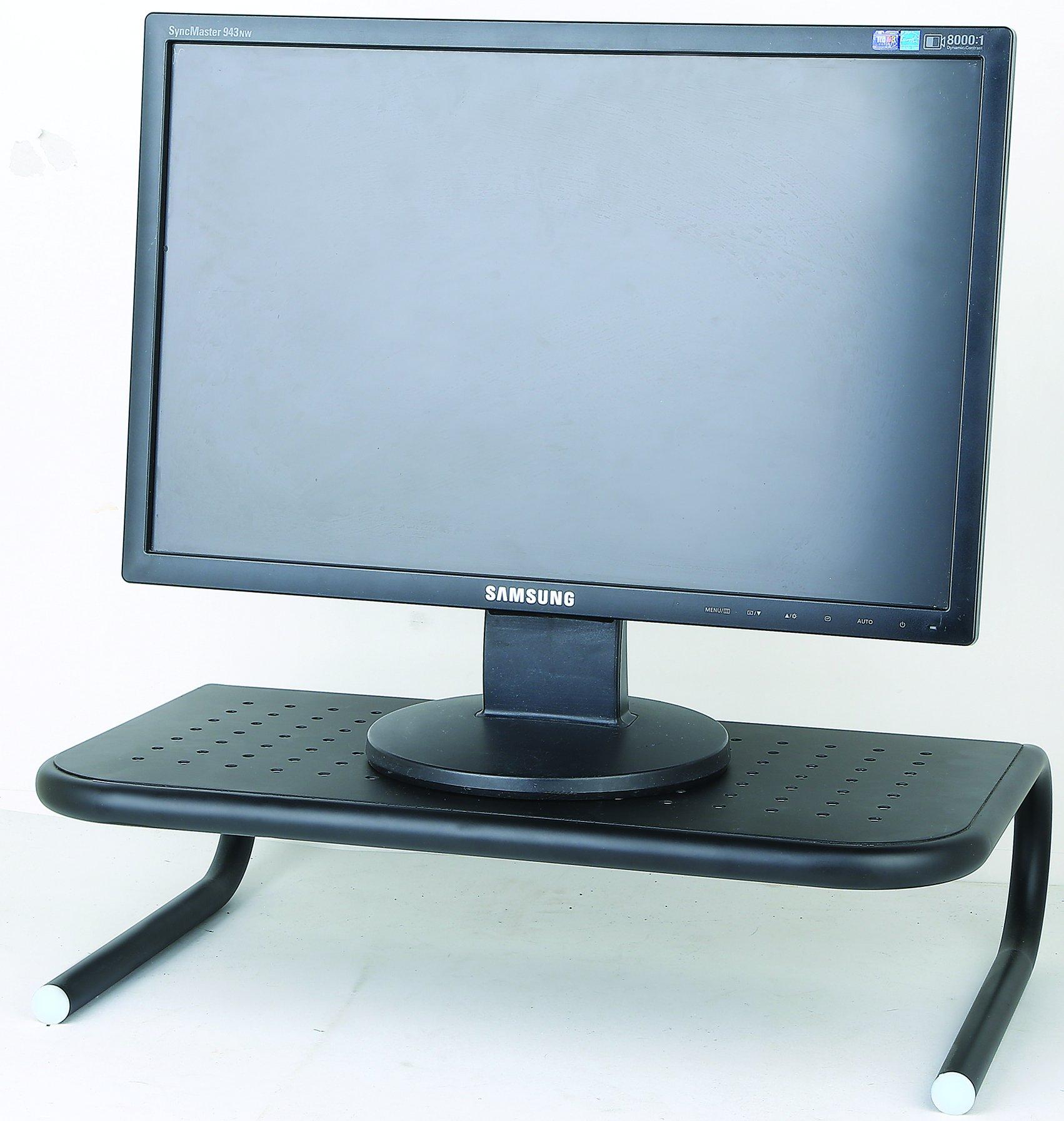 Monitor Riser Stand Computer Laptop Raiser I Printer Shelf for Desk I Desktop Home Office Table Organizer