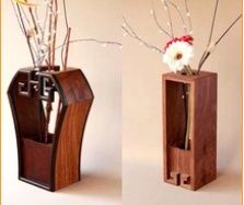 Retro fashion wooden household items household items mahogany wooden vases