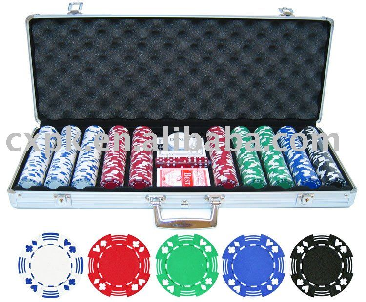 Playing Card aluminum Case and chips